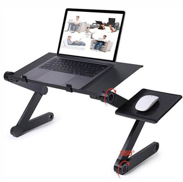 מעמד למחשב נייד כולל זוג מאווררים   סטנד לפטופ רב מפרקי חזק, , large image number null