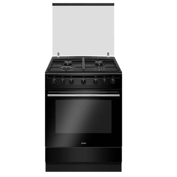 תנור משולב כיריים חדשני ויוקרתי, 4 מבערי גז בהספקים שונים הכולל מבער טורבו, 10 תכניות אפייה מבית SAUTER דגם ELEGANT 4760B - בגימור שחור , , large image number null