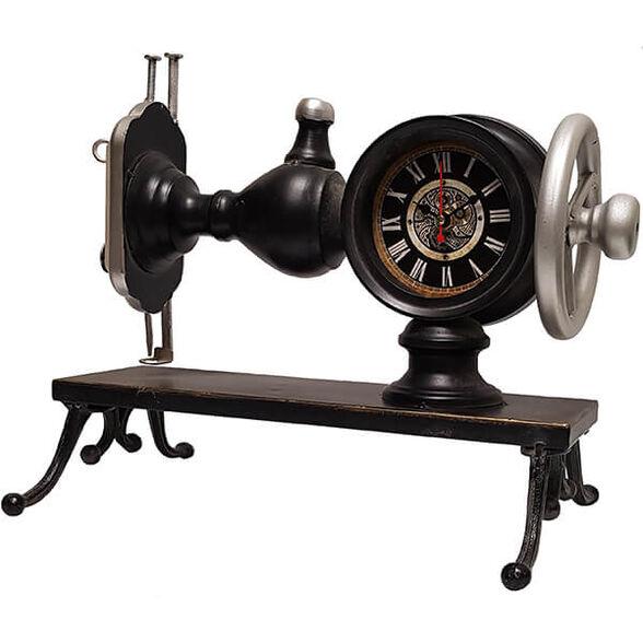 שעון שולחני בעיצוב רטרו בצורת מכונת תפירה, , large image number null