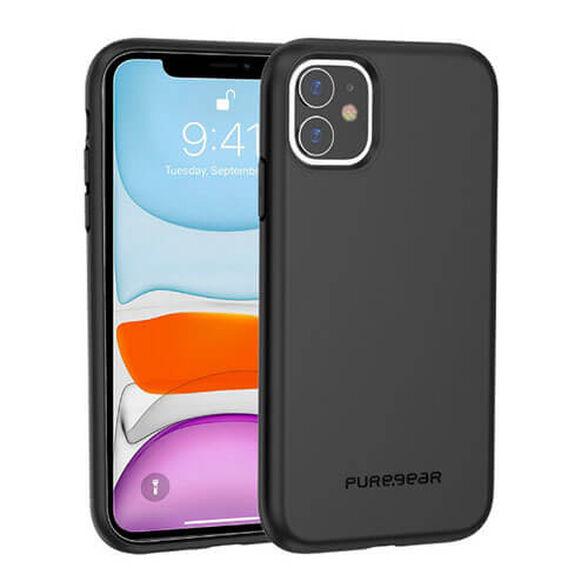 כיסוי לסמארטפון IPHONE 11 דגם Dualtek Slim מבית Pure Gear_שחור, , large image number null