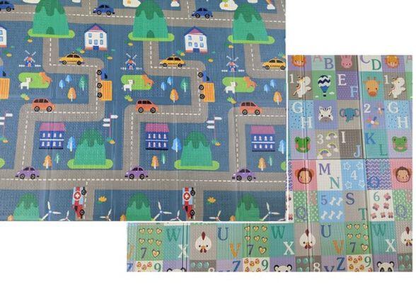 שטיח פעילות מתקפל גדול עשוי XPE איכותי דו-צדדי - ABC/עיר, , large image number null