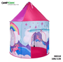 אוהל ילדים ענק בעיצוב מדליק של חד קרן, לחדר ילדים, לחצר ופיקניק, יציב ועמיד קיפול והרכבה מהירים