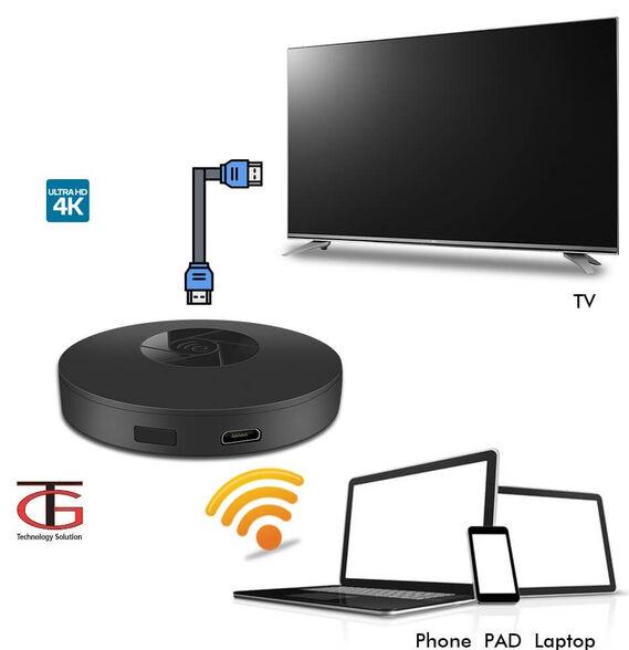 מתאם PC TO TV אלחוטי  4Kבחיבור HDMI המעביר את תצוגת המחשב/סמארטפון/טאבלט לטלויזיה, , large image number null