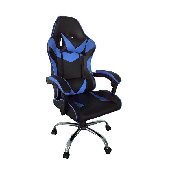 כיסא גיימינג EXTREAM בעיצוב מרהיב | הטיה 135 מעלות  | כרית נוחות | הכיסא המושלם עבורך מבית SIT ON IT_כחול שחור, , large image number null