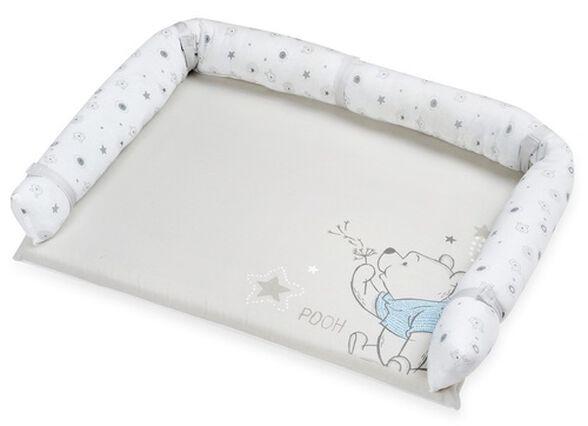 משטח החתלה מעוצב לשידת תינוק עם בד מונע החלקה - פו הדב הרפתקן כחול, , large image number null