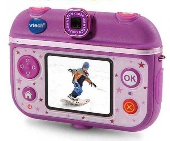 מצלמת וידיאו אקשן לילדים Kidizoom Action Cam 180 עם עדשה מתהפכת - סגול, , large image number null