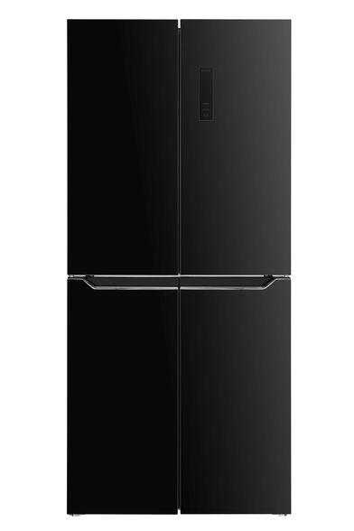 מקרר 4 דלתות גוון זכוכית שחורה 472 ליטר No Frost מבית HAIER דגם HRF472FB  , , large image number null