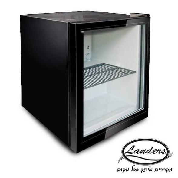 מקרר משרדי לנדרס נפח 52 ליטר בעיצוב חדשני חזית שקופה ותאורה פנימית בגימור שחור | דגם SC52B , , large image number null