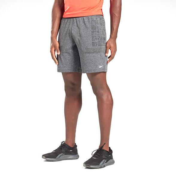 מכנס ספורט קצר ריבוק Fitness MyoKnit Seamless גברים, , large image number null