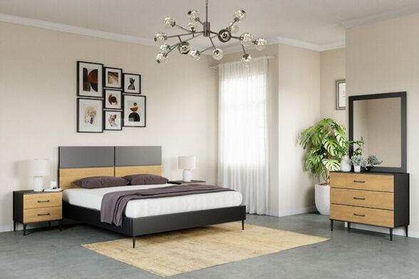 חדר שינה קומפלט עשוי עץ -ייצור ישראלי - דגם מילה, , large image number null