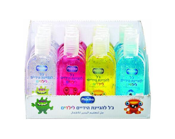 זוג ג'ל אלכוהול צבעוני לילדים 4 גוונים, , large image number null