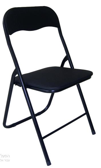 זוג כסאות מתקפלים מושב סקאי מרופד שחור מבית PLANERO, , large image number null