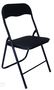 זוג כסאות מתקפלים מושב סקאי מרופד שחור מבית PLANERO