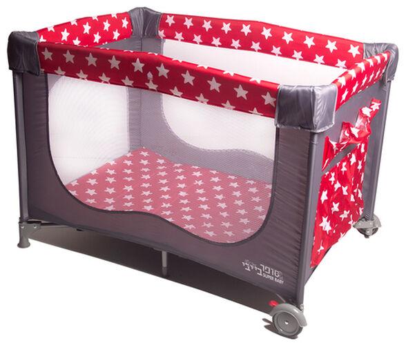 לול קמפינג / מיטה ניידת לתינוק כוכבים אדום, , large image number null