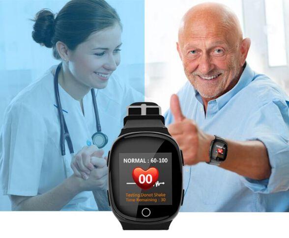 שעון טלפון חכם למבוגרים משולב לחצן מצוקה ,אפשרות איתור מיידית ,התרעה במקרה נפילה, ושיחות בחיוג ישיר, , large image number null