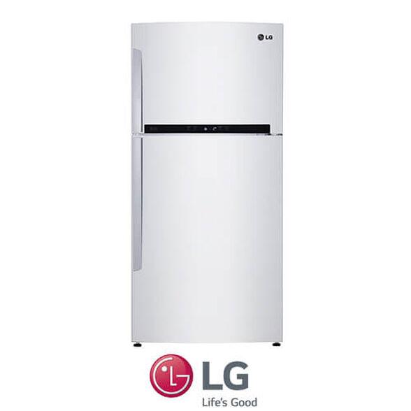 מקרר LG מקפיא עליון בנפח 596 ליטר No Frost  עם מנוע אינוורטר חסכוני תאורת LED דירוג אנרגיה A בגימור לבן דגם GR-M6981 , , large image number null