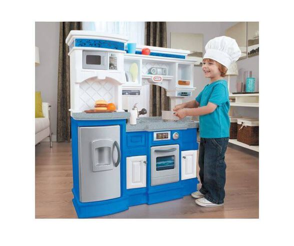 מטבח מקצועי כחול לבן מבית Little Tikes, , large image number null