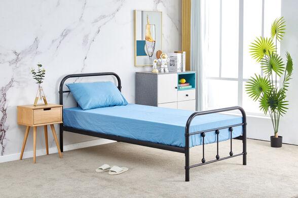 מיטת יחיד מברזל 90x190 בגוון שחור HOME DECOR דגם אפיק 90 , , large image number null