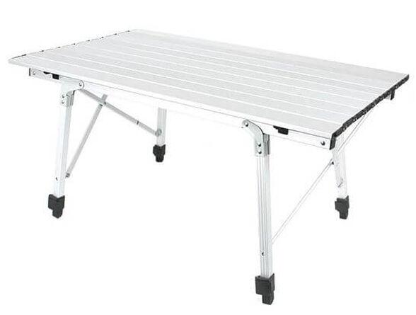 """שולחן קמפינג אלומיניום מתקפל TWOWAY ALUMINUM TABLE - NRC 503 במידות 90x52x44 ס""""מ, , large image number null"""