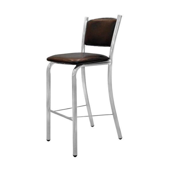 כסא בר דגם בני מרופד | ריפוד סקאי דמוי עור במבחר צבעים, , large image number null