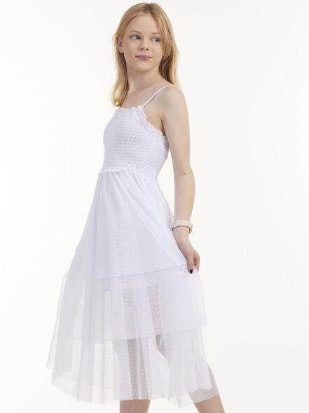 שמלה כפרית ארוכה עם שכבות, , large image number null