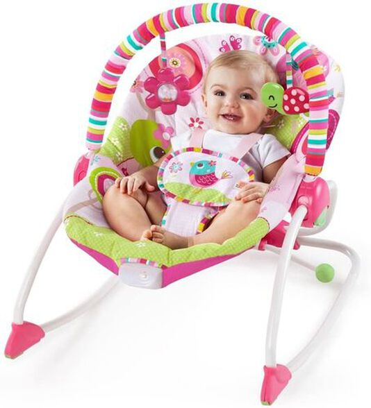 טרמפולינה לתינוק 2 ב 1 משולבת נדנדה לפעוט עם רטט - גינת הפטל, , large image number null