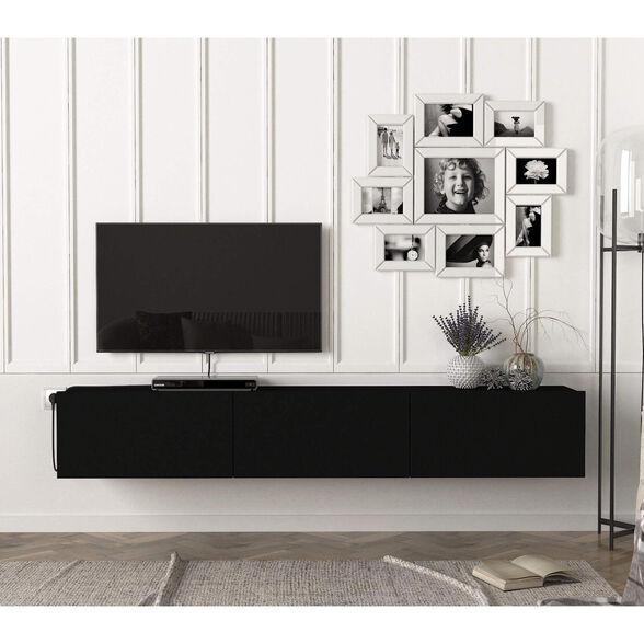 מזנון צף 1.8 מטר שחור דגם קליפורניה מבית GEVA DESIGN, , large image number null