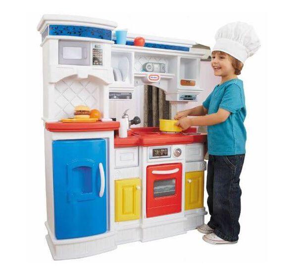 מטבח מקצועי אדום כחול לבן Little Tikes, , large image number null