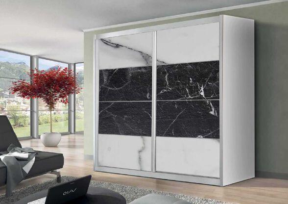 ארון הזזה 2 דלתות מבית House Design - דגם לאון - בשילוב פורמיקות שיש, , large image number null