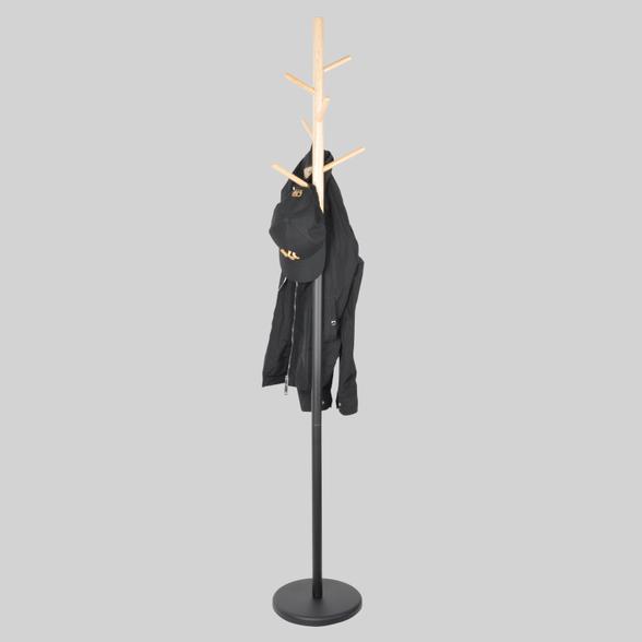 קולב בגדים דגם אורן - קולב דמוי עץ בעיצוב אלגנטי!, , large image number null