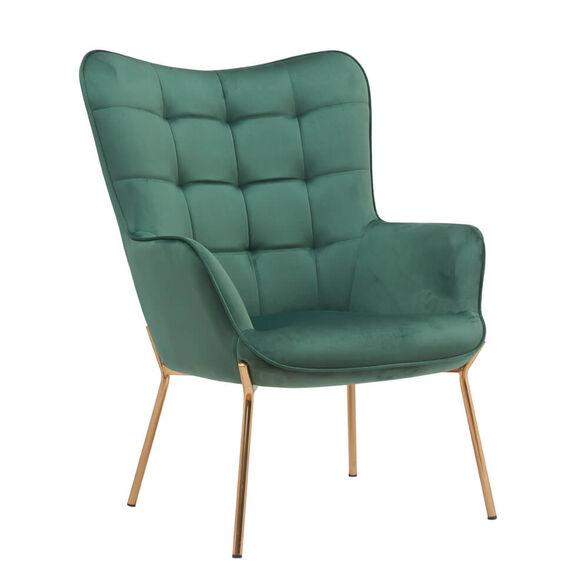 כורסא מלכותית מעוצבת עם רגלי זהב וריפוד קטיפתי  HOME DECOR דגם דובר , , large image number null