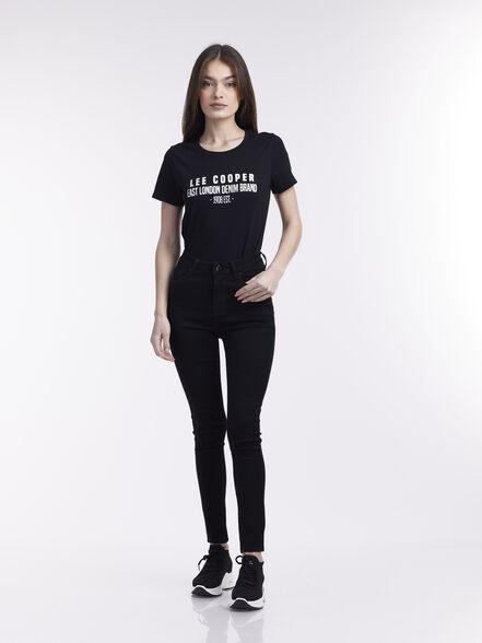 ג'ינס שחור גזרה גבוהה, , large image number null
