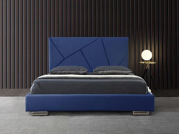 מיטת נוער רחבה ומעוצבת בריפוד בד קטיפתי HOME DECOR דגם קייטי 120 , , large image number null