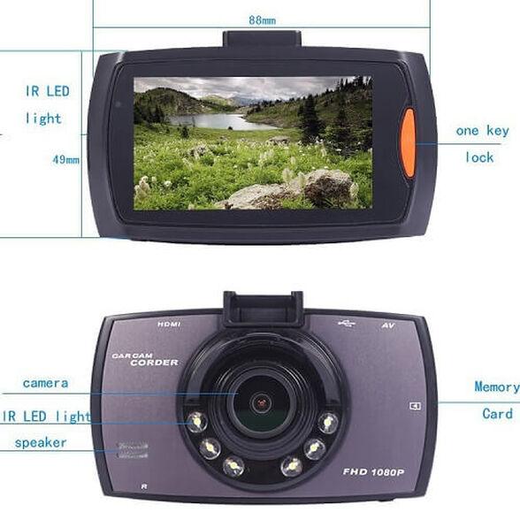 """מצלמת דרך איכות 1080P, FULL HD צג 2.7"""" ממשק בעברית, זוית צילום רחבה, G-Sensor, יציאת HDMI ועוד , , large image number null"""