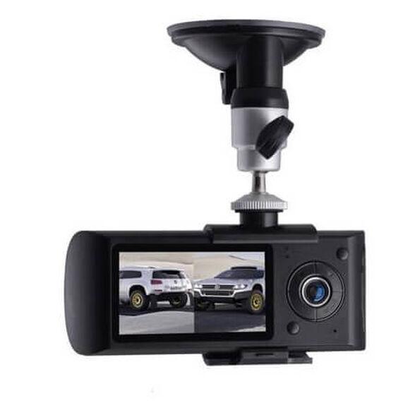 מצלמת רכב דואלית עם 2 מצלמות לצילום פנים וחוץ + GPS מובנה, איכות צילום HD, זוית צילום רחבה 130 מעלות , , large image number null