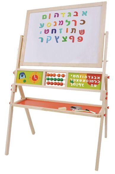 לוח ציור ולימוד 3 ב 1 עם מגנטים, גיר וטוש, , large image number null