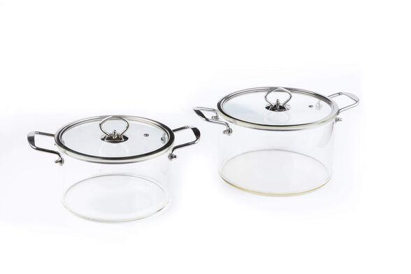 סירים שקופים מזכוכית בורסילקט, עמידים בחום עמיד לבישול על גז ולתנור    דגם לבחירה, , large image number null