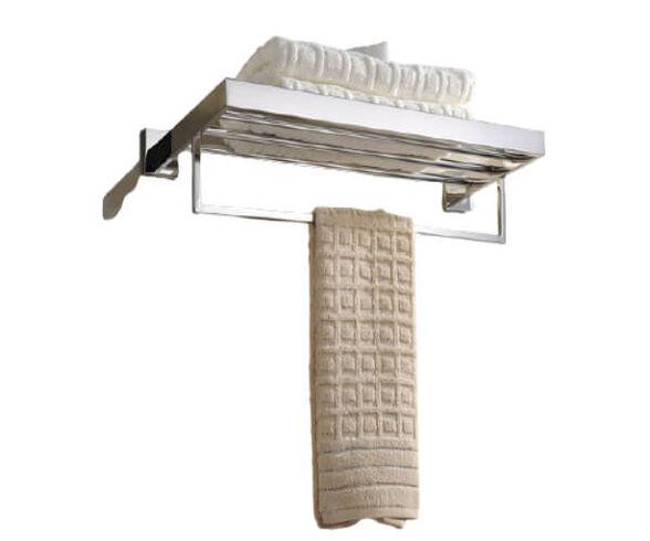 מתלה למגבות + מתקן למגבות אמבטיה עם ערכה להדבקה או קידוח, , large image number null