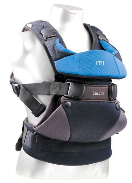 מנשא לתינוק עם 3 תנוחות נשיאה M1 צבע שחור/כחול, , large image number null