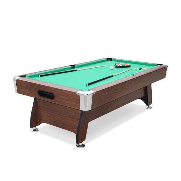 שולחן ביליארד מקצועי 8 פיט דגם MIAMI מסיבי במיוחד בעיצוב עץ מרהיב מגיע עם מקלות וכדורים, , large image number null