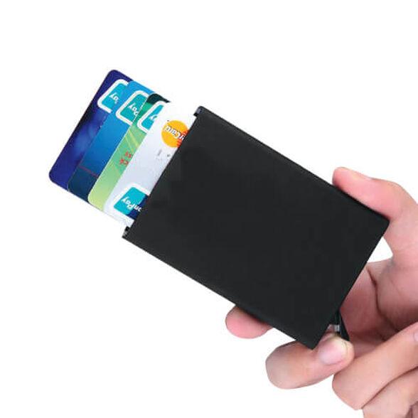 ארנק כרטיסים מאלומיניום עם הפטנט לשליפה מדורגת | יחידה שנייה בהנחה נוספת, , large image number null