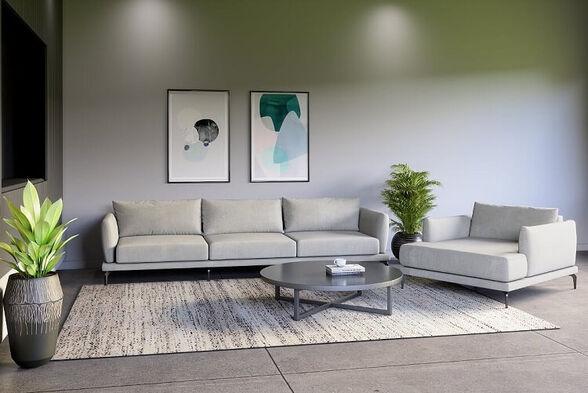 מערכת ישיבה תלת מושבית דגם גאיה - מגוון צבעים לבחירה, , large image number null