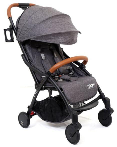 טיולון קומפקטי לתינוק עם קיפול אוטומטי טיק טק פלוס TIK TAK PLUS - אפור כהה/שלדה שחורה/עור חום, , large image number null