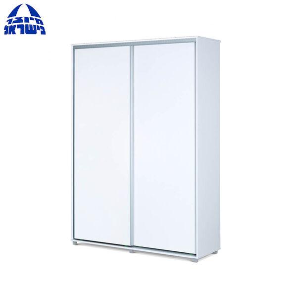 ארון הזזה 2 דלתות טריקה שקטה בעיצוב מודרני בצבע לבן דגם דניאל מבית רהיטי יראון תוצרת ישראל, , large image number null