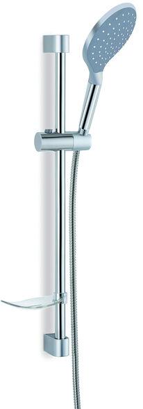 מוט מקלחת פאנטום כסוף בעל פיזור מים נעים והיקפי   ערכה הכולל מוט, צינור ומתלה ZM, , large image number null