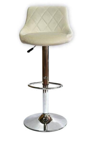 זוג כיסאות בר דגם MSH-3-4 מבית ROSSO ITALY דמוי עור PU_לבן, , large image number null