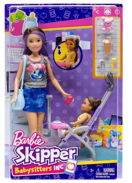 """בובת ברבי """"סקיפר"""" עם אחותה הקטנה ועגלה, , large image number null"""