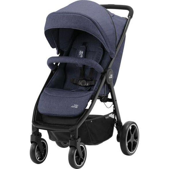 """עגלת תינוק עם גב קשיח בי אגיל B-Agile M דגם 2020 לילדים עד משקל 22 ק""""ג - כחול, , large image number null"""