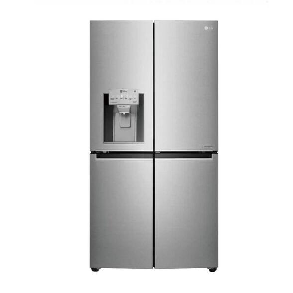 מקרר 4 דלתות LG בעל דלת בתוך דלת בנפח 837 ליטר, מערכת משמרת טריות HYGIENE FRESH, חסכוני יותר בחשמל ושקט יותר, NO FROST דגם: GRJ910SDID , , large image number null