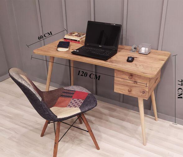 שולחן סטודנט מדליק עם 2 מגירות דגם אופיר, , large image number null